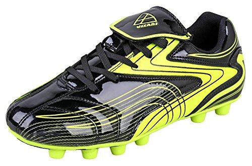 Vizari Striker FG Soccer Shoe (Toddler/Little Kid/Big Kid) (Black/Yellow, Numeric_10)