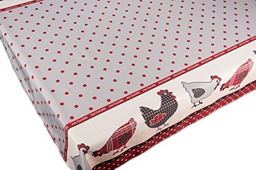 ExclusivoCIR Nappe anti-tâches Motif poules Couleurs printanières Décoration d'intérieur 240 x 150