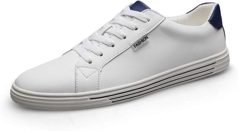 EGS-schuhe Schnüren Sie Sich Oben echtes Leder-beilufiger im Freien laufender wandernder Art- und WeiseTurnschuhe für Mann-niedrige gehende Schuhe,Grille Schuhe (Farbe   Blau, Gre   42 EU)