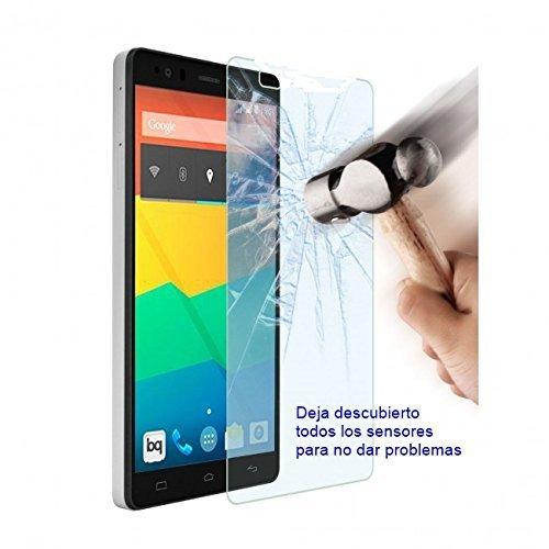 SKS Distribution® Protector de Pantalla de Cristal Vidrio Templado Ultra Resistente a Golpes y Rayado para BQ AQUARIS E5 HD FHD / E5 4G LTE