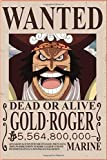 Gold Roger Wanted OnePiece : Notebook Anime: Great for Journal - Notebooks With Beautiful cover