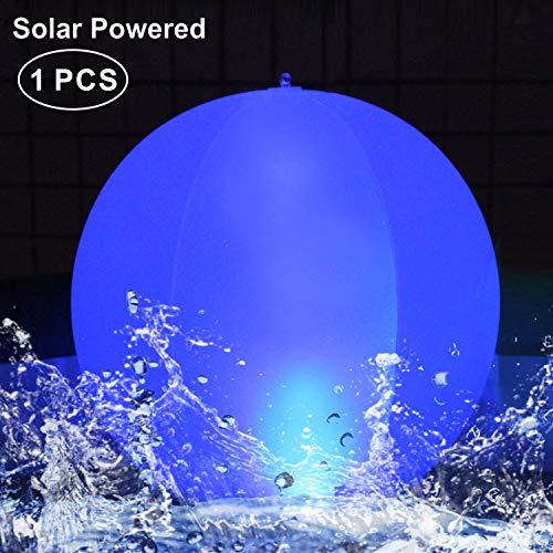 """LED Solarlichter,LED Solar Kugelleuchte 14\"""" LED Solar Ball Licht Schwimmende Pool Lichter Wasserdichte,Farbwechsel LED Nachtlicht Party Decor für Garten,Schwimmbad,Hochzeit,Strand,Hof,Rasen(1PCS)"""