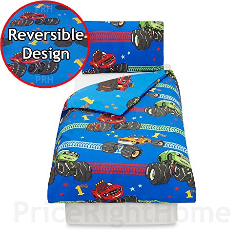 Blaze Boys Children's Official And The Monster Machines Toddler Duvet Cover Set