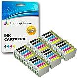Cartucce d'inchiostro 30XL (6Set colore + 6nero) compatibili con Epson T0711-T0714 (T0715) per stampanti Stylus D78, D92, D120, DX400, DX4000, DX4050, DX4400, DX4450, DX5000, DX5050, DX6000, DX6050, DX7000, DX7400, DX7450, DX8400, DX8450, DX9200, DX9400F, DX9450, S20, S21, SX100, SX105, SX110, SX115, SX200, SX205, SX209, SX210, SX215, SX218, SX400, SX405, SX410, SX415, SX510W, SX515W, SX600FW, SX610FW, Office B40W, B300F, BX310FN, BX600FW, BX610FW - Nero/ciano/magenta/giallo, alta capacità 6 SETS + 6 BLACK Black/Cyan/Magenta/Yellow