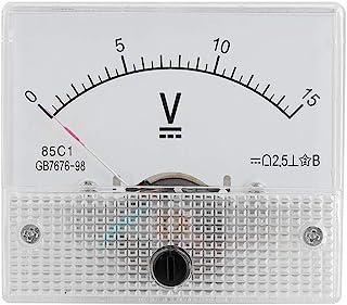 Topiky Mini Current Analog Amperemeter Voltmeter, Professionell Langlebig 2.5 Genauigkeit Spannung Analog Voltmeter Panel Amperemeter Current Voltmeter des CC 85 Analog Current C1 (DC 0 15V)
