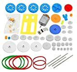 MissBirdler 77 Teile Nylon Zahnräder Zahnrad Getriebe Set für Arduino Steppermotoren Motor