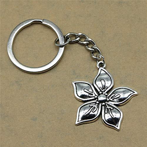 YCEOT portemonnee sleutelhanger bloemen terug geschenken voor kinderen verjaardag partij 33X31Mm hanger zilver verguld