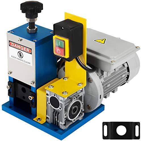 VEVOR Machine à Dénuder électrique HXSMS-025, Pince à dénuder électrique 1.5-25mm, pour recycler les fils de cuivre/enlever l'isolant en plastique et en caoutchouc des fils de ferraille intacts