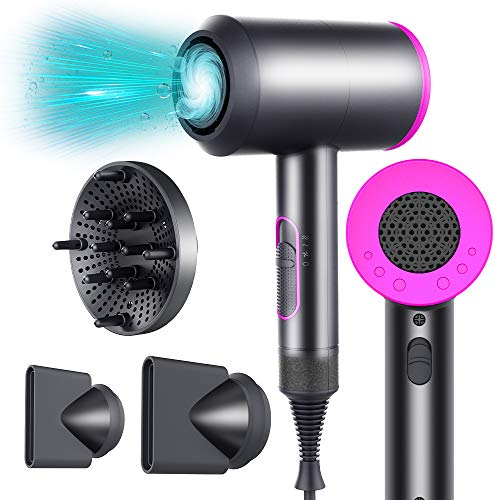 Vcloo Professional Ionic Hair Dryer Powerful 2000W Constant Temperature with Curly Diffuser...