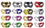 16 Pieces Unisex Masquerade Mask...