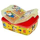 Micky Maus Kinder Brotdose mit 3 Fächern, Kids Lunchbox,Bento Brotbox für Kinder - ideal für Schule, Kindergarten oder Freizeit