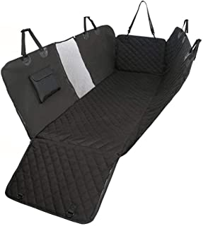 Seat Dog Car Cover by Pet Car Seat -Hammock with Mesh Window Heavy Duty 100% Waterproof Anti-Slip 600D Oxford Cloth - Safe When Traveling with Your Pets Protect Spoil in The car from Children Mess.