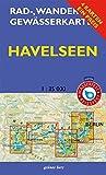 Rad-, Wander- und Gewässerkarten-Set: Havelseen 1 : 35 000: Mit den Karten: 'Havelseen 1: Brandenburg/Havel', 'Havelseen 2: Beetzsee - Ketzin', ... und 'Havelseen 4: Vom Wannsee zum Tegler See'