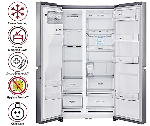 LG 668 L side-by-side Refrigerator