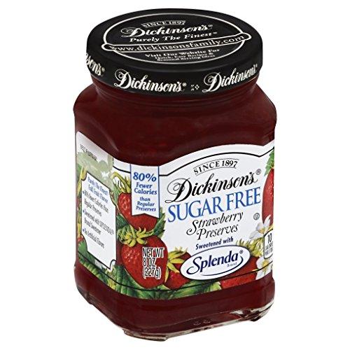 Dickinson's Sugar Free Strawberry Preserves with Splenda, 8 oz