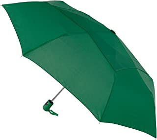 StrombergBrand Mighty Mite Waterproof Windproof Wind Vent Auto-Open Close Small Light Weight Portable Compact Tiny Mini Travel Folding Umbrella for Men and Women, Hunter Green