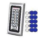HFeng Independiente IP68 Impermeable RFID Teclado de Control de Acceso Lector de Tarjetas de Metal + 10 unids 125 KHz proximidad