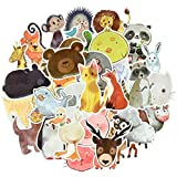 Cute Watercolor Animal Vinyl Stickers Bomb Laptop Water Bottle Folders (50Pcs/Pack)