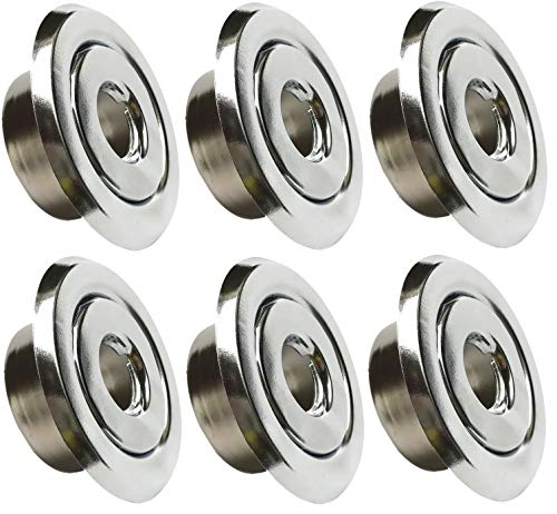 Happy Tree (6 Pack) 1/2' IPS Fire Sprinkler Head Semi-Recessed Escutcheon Plate 2 Piece Cover Ring Chrome