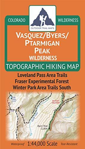 Outdoor Trail Maps LLC Topografische Wanderkarte von Vasquez/Byers/Ptarmigan Peak Wilderness (2019)