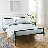 Cadre de lit double en métal en noir