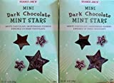 2 Boxes of Trader Joe's Mini Dark Chocolate Mint Stars Holiday