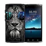 Phone Case for Unimax UMX U693CL Assurancewireless Case TPU Soft Phone Cover Glasses Lion