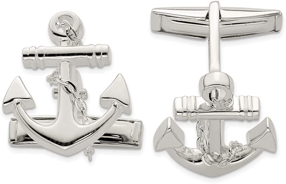 Ranking TOP20 Sterling Silver Atlanta Mall Anchor with dangle QQ560 style Cufflinks rope