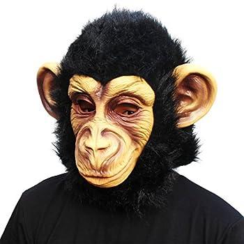 Animal Mask Monkey Mask Novelty Halloween Costume Party Animal Head Mask Chimp