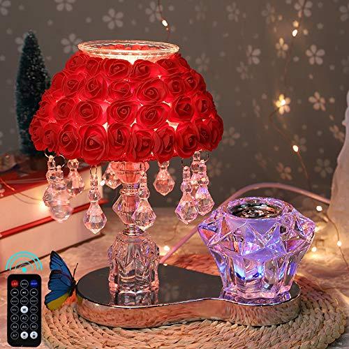 qiyanBluetooth Lautsprecher Schlafzimmer Nachttischlampe Kreative Kristall Warme Romantische Rose Geschenk Europäischen Hochzeitsraum Hochzeit Tischlampe C3