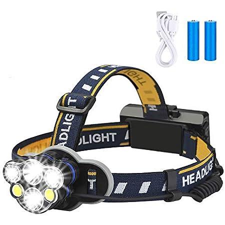 USB rechargeable COB LED headlamp Headlight 18650 Front Head Light Lamp Torch