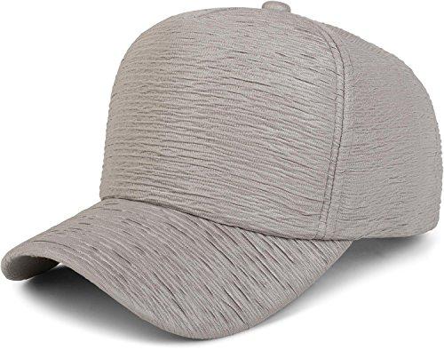 styleBREAKER Gorra de 6 Paneles en óptica Arrugada, Gorra de béisbol, Ajustable,...
