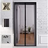 Mosquitera magnética para puertas, cierre automático, cortina mosquitera con tiras antimosquitos, insectos para puertas, ventanas, balcón, salón