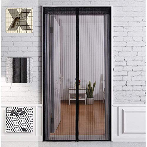 Magnet Fliegengitter Tür Insektenschutz, SOOPER Magnetvorhang Ideal für die Balkontür, Kellertür Und Terrassentür, Kinderleichte Klebemontage Ohne Bohren (100X220CM)
