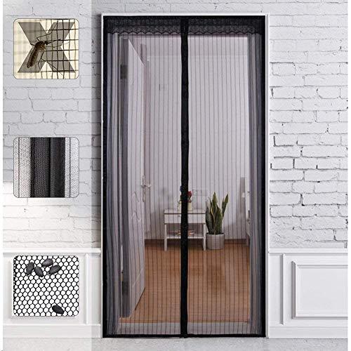 Magnet Fliegengitter Tür Insektenschutz, SOOPER Magnetvorhang Ideal für die Balkontür, Kellertür Und Terrassentür, Kinderleichte Klebemontage Ohne Bohren (90X210CM)