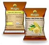 Magic Makka Atta Corn Meal Flour,no Preservative Pack, Yellow Color (1000 g)