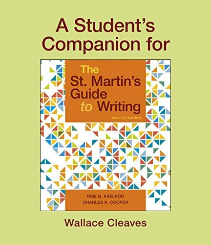 A Student s Companion for The St Martin s Guide to Writing product image