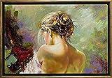 Startonight Arte de Lujo Cuadro sobre Lienzo Bronce Espalda, Mujer, Impresion en Calidad Fotografica Enmarcado y Listo Para Colgar Diseño Moderno Decoración Formato Grande 50 x 70 CM