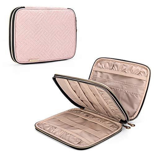 Teamoy Häkelnadeln Tasche, Stricknadeln Aufbewahrungstasche für Häkelsets, Stricken Reisetasche für Häkel Nadelsets und Stricken Zubehör, Rosa