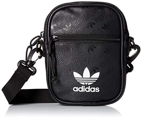 adidas Originals Unisex Clear Festival Crossbody Bag, Black, ONE SIZE
