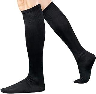 LowProfile Compression Solid Socks Men Knee High Athletic, Running, Basketball, Medical, Travel Over Knee Long Socks
