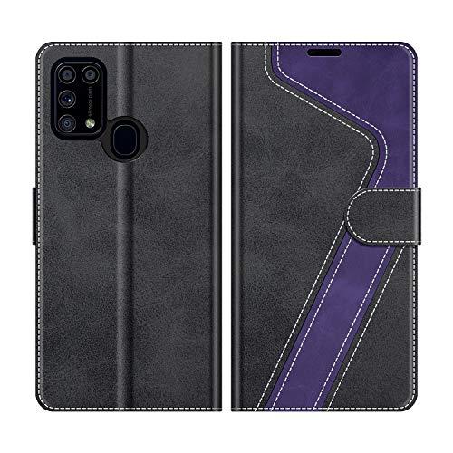 MOBESV Coque pour Samsung Galaxy M31, Housse en Cuir Samsung Galaxy M31, Étui Téléphone Samsung Galaxy M31 Magnétique Etui Housse pour Samsung Galaxy M31, Noir/Violet