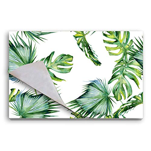 Disposable Paper Placemats for Table, 25-Pack Natural Food Grade Quality Party Place Mats - Dining Table Doilies, Tear off Placemats Pad, Table Covers for Table Setting 14' x 18' (Palm Trees Leaves)