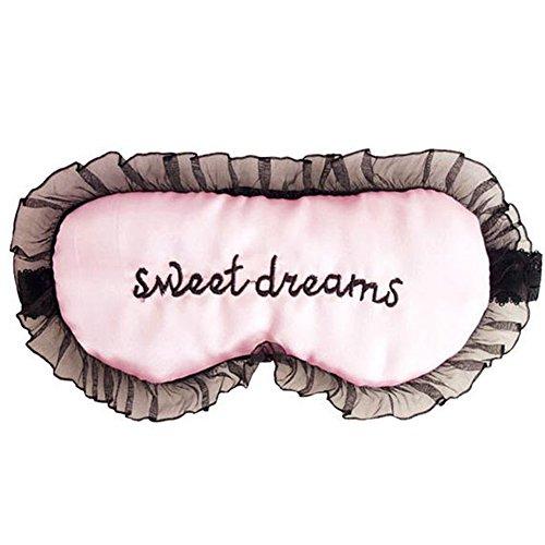 BIGBOBA Spitze Schlafen Augenmaske Frauen Night Goggles Augen Ermüdungs Augenmaske Passend für Reise Schnarchen Schlaf, Pink