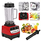 HOMIER 2L/68 Oz Commercial Food Blender Heavy Duty Kitchen Mixer Milkshake Smoothie Shakes Mixer 2200W Food Processor Mixer Juicer Ice Crusher Countertop Blender for Home Kitchen Commercial Use