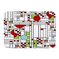NIESIKKLA バスマット、幾何学的なカラフルな形の数学、マット滑り止め ソフトタッチ 丸洗い 洗濯 台所 脱衣場 キッチン 玄関やわらかマット 45x 75cm