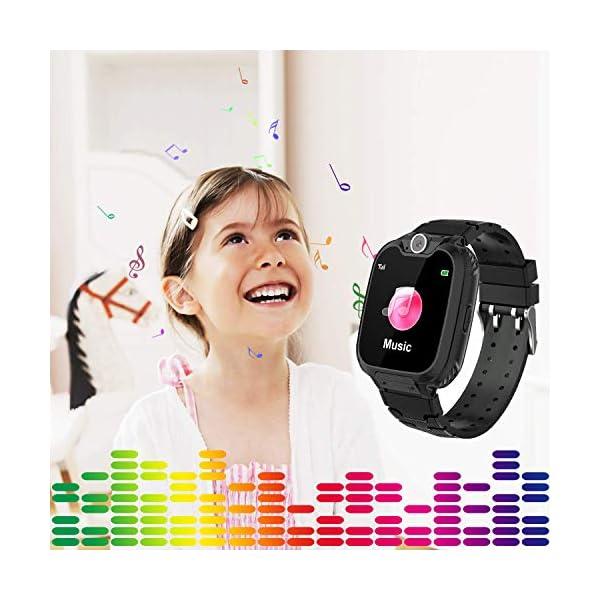 Niños Smart Watch Phone, La Musica Smartwatch para niños de 3-12 años Niñas con cámara Ranura para Tarjeta SIM Juego de… 5