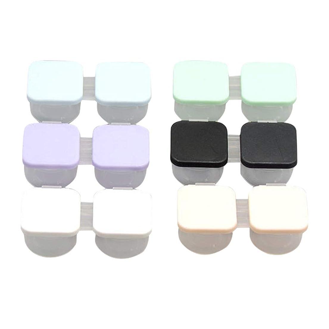 もっともらしいオークランドノベルティSUPVOX コンタクトケース ケアパレット 保存ケース プラスチック製 軽量 安全6個入(混色)