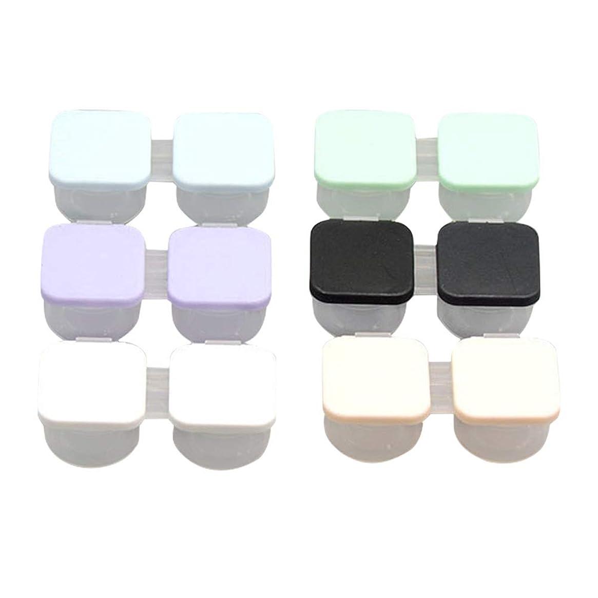 指納得させる魅了するSUPVOX コンタクトケース ケアパレット 保存ケース プラスチック製 軽量 安全6個入(混色)