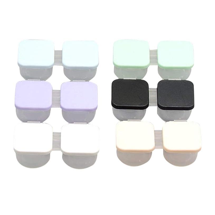 エキサイティング表向き章SUPVOX コンタクトケース ケアパレット 保存ケース プラスチック製 軽量 安全6個入(混色)